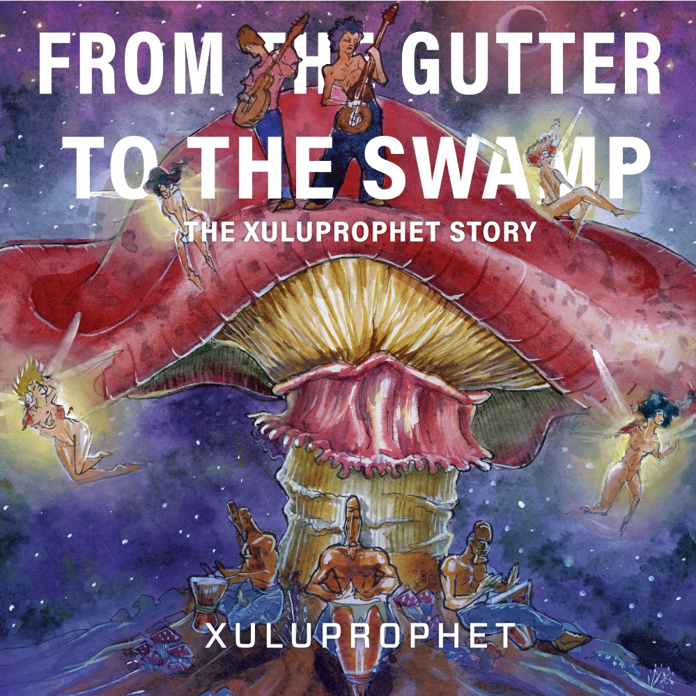 'From the Gutter to the Swamp' once again has the artwork of artist Alfredo Martinez as the album art. This artist has been doing all of the branding and releated art for the band since 2014, and was the first to visualize Xulu's Stardust Pixxies concept. Since then Jamie Failing has grown the Stardust Pixxies into a full fledged Cirqe performance troupe. Look for some collaborations later this year.